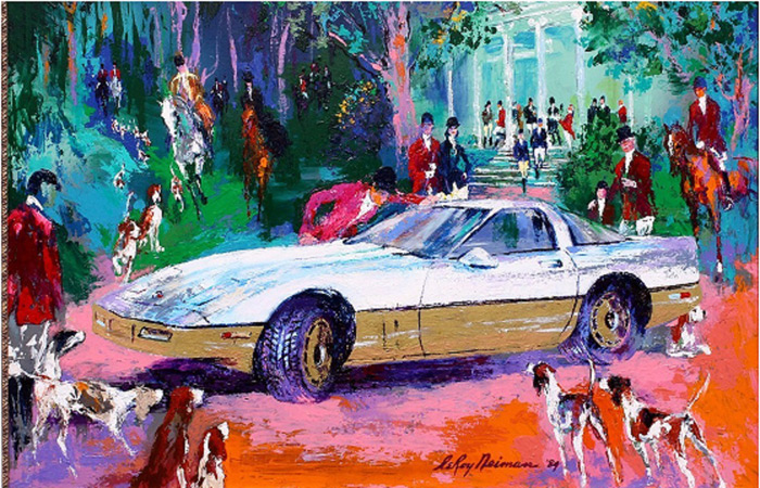 Rendezvous a la Corvette LEROY NEIMAN ORIGINALS CALL 702-222-2221, Buy Rendezvous a la Corvette or sell Rendezvous a la Corvette a LeRoy Neiman Original from NeimansOnly.com Call 702-222-2221