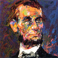 LeRoy Neiman Originals Call 702-222-2221 Abraham Lincoln