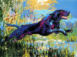 LeRoy Neiman Originals Call 702-222-2221 Black Labrador